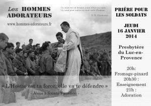 affiche priere soldats