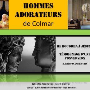 Mardi 9 janvier 2018 : Rencontre des hommes-adorateurs de Colmar (68)