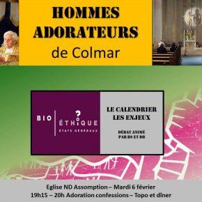 Mardi 6 février 2018 : Rencontre des hommes-adorateurs de Colmar (68)