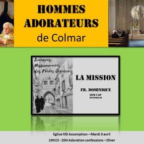 Mardi 3 avril 2018 : Rencontre des hommes-adorateurs de Colmar (68)