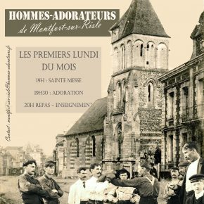 lundi 5 fevrier 2018 : Rencontre des hommes-adorateurs à Montfort sur Risle (27)