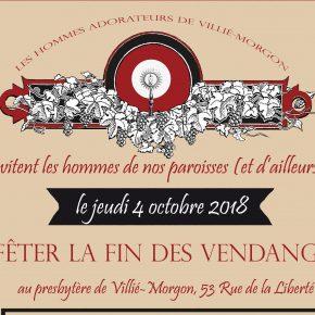 4 octobre : les hommes adorateurs de Villié-Morgon fêtent la fin des vendanges !