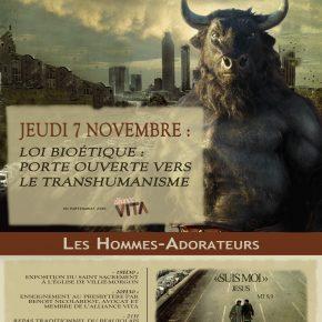 Jeudi 7 novembre: à Villié-Morgon transhumanisme et repas beaujolais !